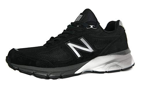 New Balance Women's Made 990 V4 Sneaker, Black/Silver, 8 M US