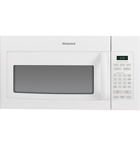 GE RVM5160DHWW Hotpoint Over-The-Range Microwave Oven, 1.6 Cubic ft., 950W, White