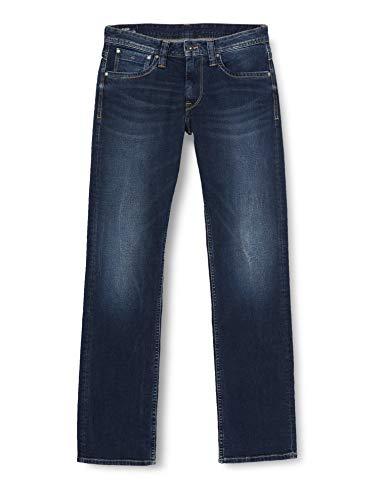 Pepe Jeans Kingston Zip Vaqueros, Azul (11Oz Streaky Stretch Dk Z45), 34W / 30L para Hombre