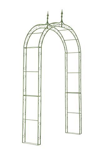 CLP Arcade de Jardin en Fer Forgé Lenz - Arche à Rosiers Robuste et Stable - Support pour Plantes Grimpantes - Hauteur 264 cm - Couleur:, Couleur:Antique-Vert