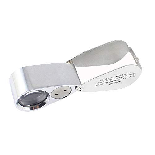 Luces LED de mano Lupa de cristal HD joyería ojo lupa portátil ligero todo derecho, real pulabo