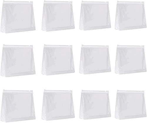 Liten mini PVC genomskinlig plast kosmetisk organiseringsväska väska med dragkedja för semesterresor, badrum och organisera vattentät sminkväska