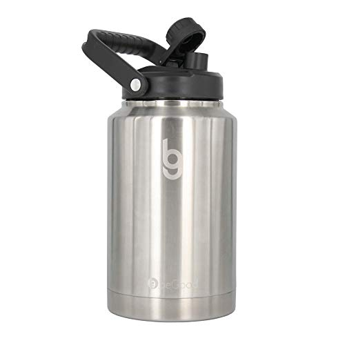 BEGOOD GROWLER One Gallon Vacuum Insulated Jug, Stainless Steel Insulated Beer Growler, 128 oz Insulated Water Bottle, Thermo Canteen