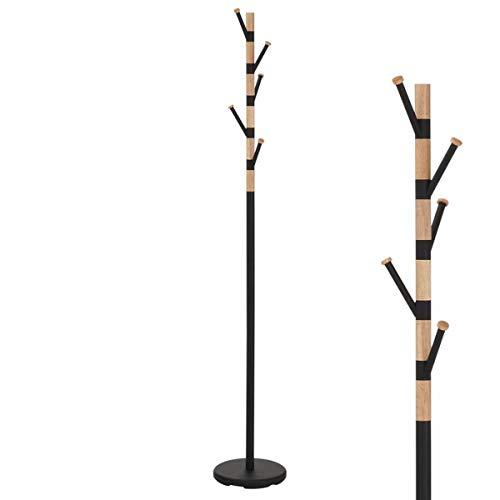 Unbekannt Perchero de pie (Metal y Madera, 177 cm), Color Negro