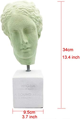 Standbeelden Ornamenten Boy Head Portraits Resin Sculpture Woonkamer Tv-Meubel Mode Decoratie-Lichtgroen