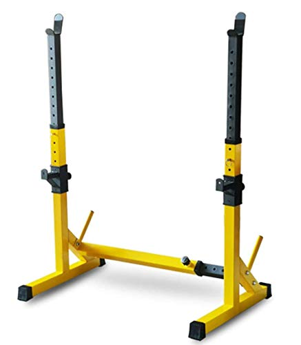 Adjustable Squat Rack Stands Barbell Rack Gym Weight Bench Press Stand Max Load Adjustable Squat Stand Equipment Home & Gym