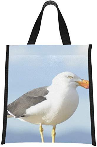 Bolsa enfriador para botella de agua, pájaro, gaviota, naturaleza, aves marinas, vida silvestre, animales, bolsas para almuerzo, bolsa enfriador para botella de agua, reutilizable, plegable,
