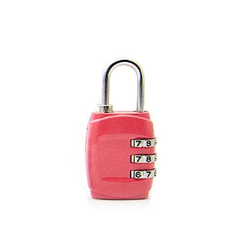 JXHYKJ Fahrrad Passwort Lock personalisierte benutzerdefinierte kleine Vorhängeschloss Reisegepäck-Locker Mechanische Fitness-Gym-Gepäck-Gepäck-Kennwort-Code-Sperren (Farbe : Pink)