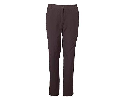 Crivit Outdoor Damen Trekkinghose mit Teflon® UV 40+ Wasserabweisend Braun L 44-46