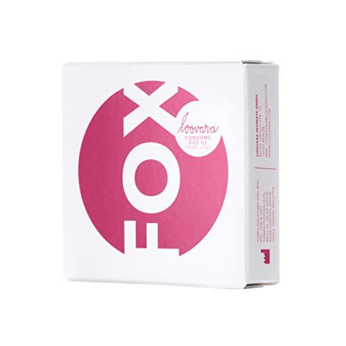 Loovara 3 Kondome in individuellen Größen - Kondomgröße 53 - Size Fox - Kondome dünn aus Fair Rubber - Für mehr Fun & Feeling beim Sex - Vegane Präservative im 3er Pack