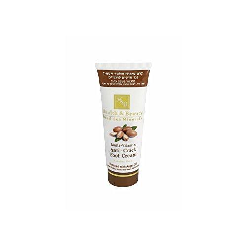 Mer Morte cosmétique - Health and Beauty Dead Sea Minerals - Crème multivitaminée pour les pieds à l'huile d'argan - 100 ml