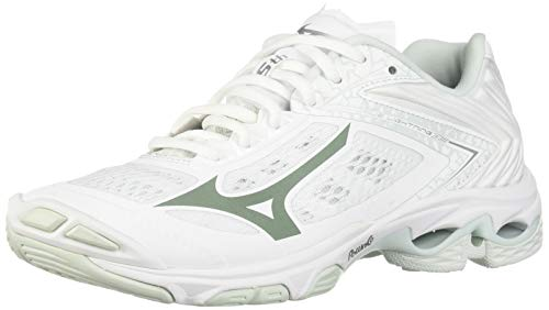 Mizuno womens Wave Lightning Z5 Indoor Court Shoe, White, 8.5 US