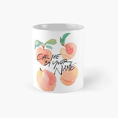 """Tazza classica con scritta """"Call Me by Your Name"""" """"Peachs"""", idea regalo, divertente e divertente, 325 ml"""