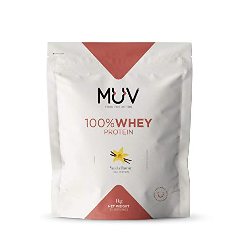 Muv Food For Action Whey Protein, Vanilla - 1000 gr