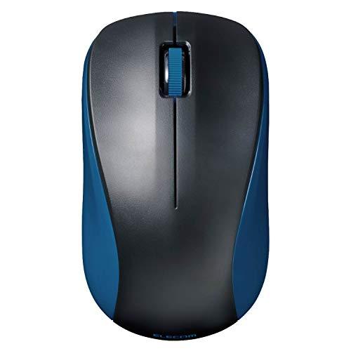エレコム マウス Bluetooth 3ボタン Mサイズ MacOS/iOS/iPadOS対応 ブルー M-BY11BRBU