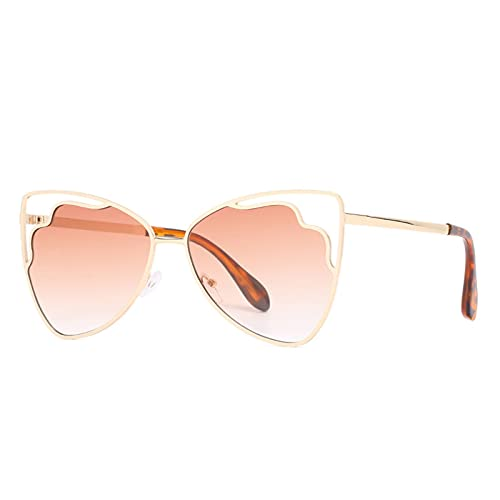 LEERIAN Polarizador Masculino y Femenino UV400 Filtro Anti-Ultravioleta, Gafas de Sol al Aire Libre de Metal de Moda para Conducir/Pesca/Ciclismo/de Compras/Gafas de Golf Deportes,C