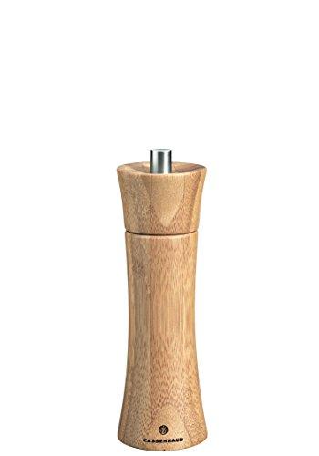 Zassenhaus Salzmühle Frankfurt 18 cm, Bambus mit stufenlos verstellbarem Hochleistungs-Keramikmahlwerk, befüllt