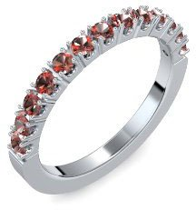 Memoire ring Silber Ring Granat 925 + inkl. Luxusetui + Granat Ring Silber Granatring Silber (Silber 925) - Classiness Amoonic Schmuck Größe 54 (17.2) AM57 SS925GRFAGRFA54