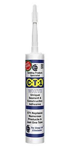 CT1 - Adhesivo de construcción sellador único, 290ml, (blanco 290 ml)