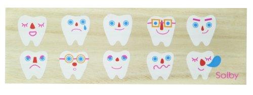 Solby 乳歯ケース たまて歯庫 (日付/名前記入用アクリル板付) 桐箱製 防虫効果 NZSB102001