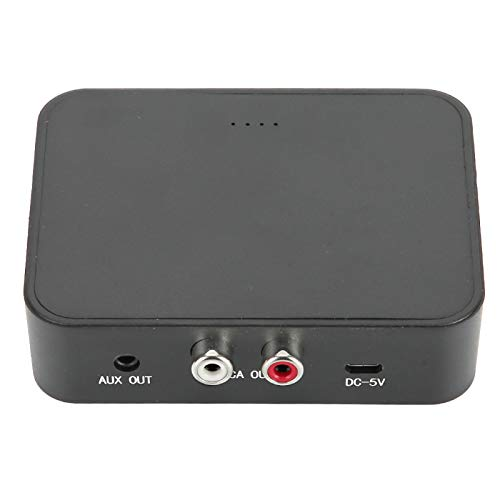 Receptor Bluetooth 5.0, NFC Receptor de audio Bluetooth 5.0 3.5MM Aux, Adaptador de música inalámbrico RCA, Tarjeta de memoria Reproductor de automóvil USB, Adecuado para kit de teléfono con TV