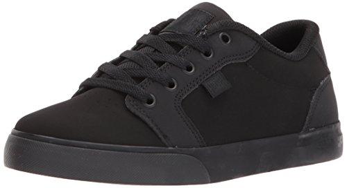 DC unisex child Anvil Skate Shoe, Black/Black, 5.5 Big Kid US