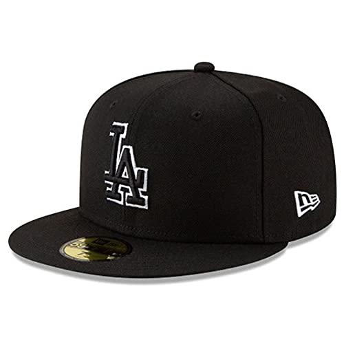 New Era MLB Los Angeles Dodgers Basic 59Fifty - Gorro ajustado para hombre, color negro