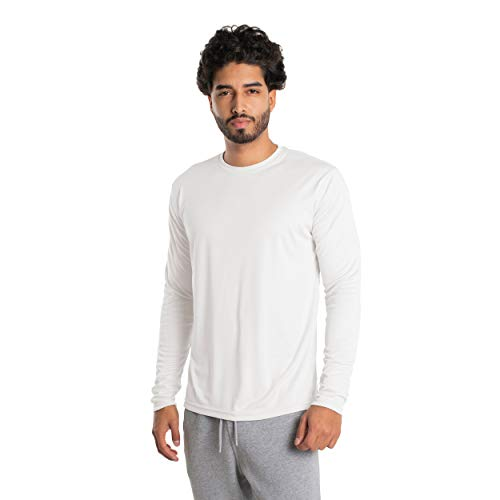 Vapor Apparel Men's UPF 50+ UV Sun Protection Long Sleeve Performance T-Shirt for Sports and Outdoor Lifestyle, X-Large, White