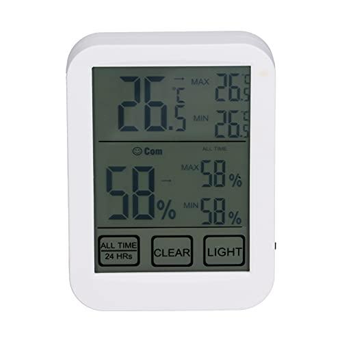 SALUTUY Monitor di Temperatura e umidità, Periodo di aggiornamento di 10 Secondi Termometro per Stanza della Chitarra per Stanza del Bambino per Serra per Soggiorno per seminterrato