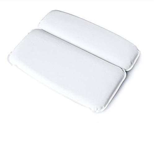 Mousse PU mousse de baignoire, oreiller de salle de bain, douche, appuie-tête ventouse de douche, appuie-tête de baignoire oreiller 30*40cm blanc