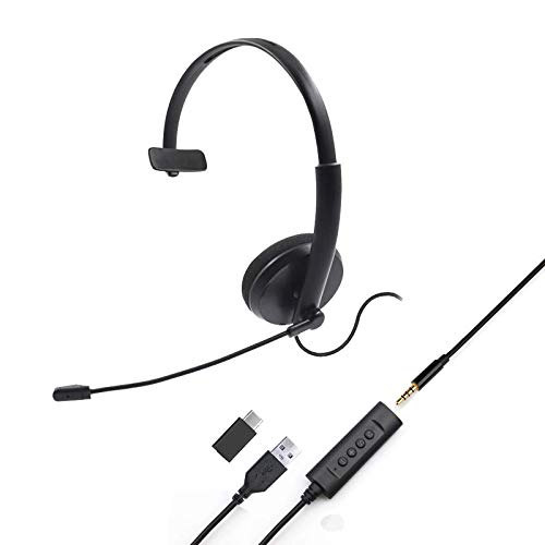 Project Telecom Unified Monaural Noise Cancelling 3.5mm | USB Headset | Compatible With Dell XPS
