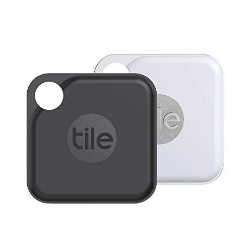 Tile Pro (2020) Bluetooth Trova Oggetti, 2 Pezzi, Nero/Bianco, Portata di Rilevamento 120m, Batteria 2 Anni, Compatibile con Alexa e Google Smart Home, iOS e Android, Trova Chiavi, Telecomandi e Altro