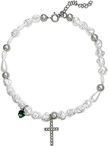 BEISUOSIBYW Co.,Ltd Collares 1 Pieza Collar de Luna de Piedra Natural Cuello Colgante de Cristal de Color Dorado Regalos