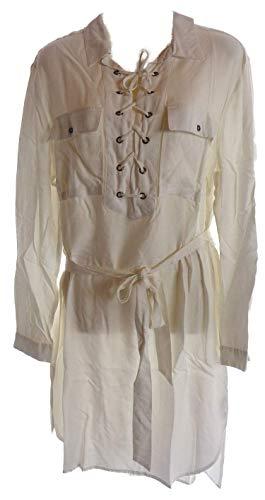 Sheego Damen Long Tunika Bluse Creme schwarz (Creme, 46)