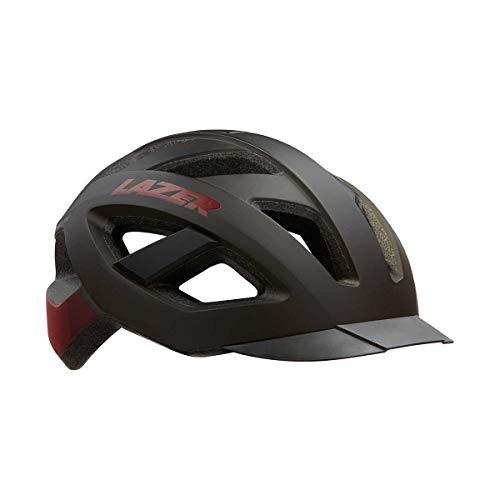 LAZER(レーザー) サイクリングヘルメット Cameleon マットブラックレッド M(55-59cm)
