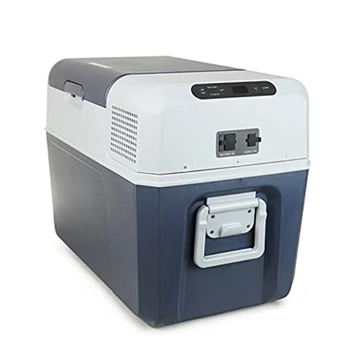 Refrigerador de automóviles y yates, refrigerador de control de temperatura inteligente, refrigerador de control remoto de enfriamiento rápido, 40L, fuente de alimentación de voltaje de coche 12V/24V
