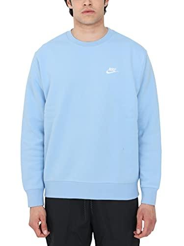 NIKE M NSW Club CRW BB Sweatshirt, Psychic Blue/(White), 2XL Mens