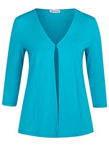 Chalou Shirt-Jacke türkisblau Größe 50