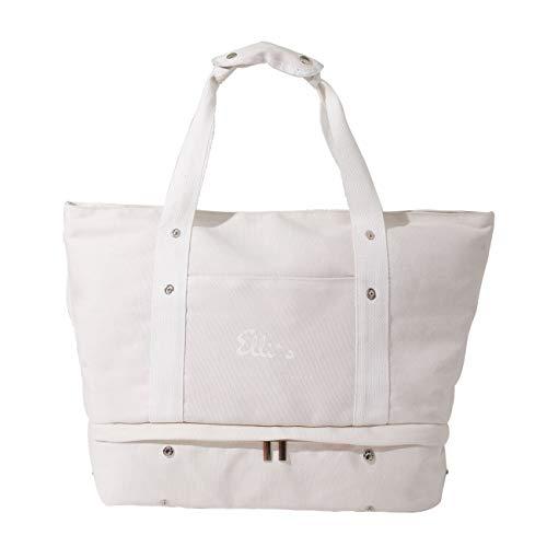 Elli`s Freizeit Tasche (weiß) für Uni, Schule, Sporttasche klein, Camping, Jogatasche, Reisetasche, Weekender