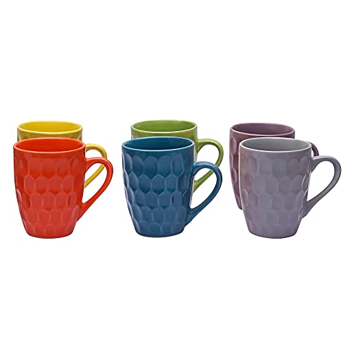Offer on Ceramic Coffee Mugs, 250 ml, Set of 6