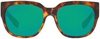 Costa Del Mar Waterwoman Polarized Green Mirror Plastic Square Sunglasses