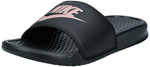 Nike WMNS Benassi JDI, Chaussures de Fitness Homme, Multicolore (Black/Rose Gold 007), 35.5 EU