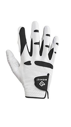 Bionic GGNMRM Men's StableGrip with Natural Fit Golf Glove, Right Hand, Medium , White
