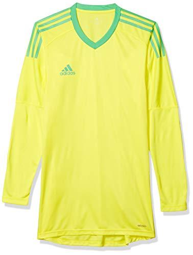 adidas Men's Soccer Revigo 17 Goalkeeper Jersey, Bright Yellow/Energy Green, Small