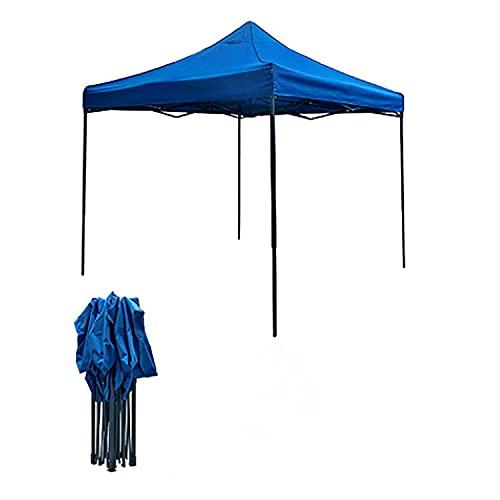WORLDFYF Gazebo plegable, 3 x 3, resistente al agua, marco de aleación de aluminio, cenador resistente al aire libre, carpa plegable antiUV, carpa para jardín, fiesta, boda, azul, verde