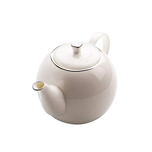 LRHD Tarde Tetera Rastreo Platinum Hueso Porcelana Creativo del pote del café del hogar de la Tetera Tetera de la Porcelana con Filtro, 1600ml Grande Tetera de la Porcelana con Tapa, la porción de la