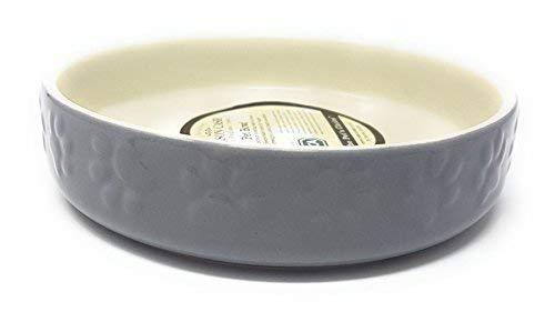 2 X Luxe Porcelaine Lourd Patte Chat Animal Gris Crème Bol Soucoupe 12CM