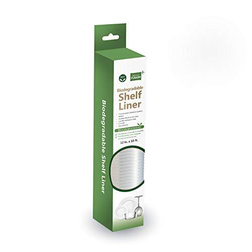Grand Fusion Housewares Biodegradable Shelf Liner - 10 ft x 12 inch...