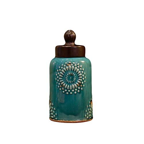 bloempot Vaas Amerikaanse mediterrane Keramische Home Sieraden Decoratie Opslag Tank Blauw Aanrechtblad Vaas Oude Weide Eenvoudige Ambachten