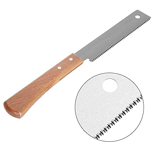 Small Hand Saw,Japanese Woodworking Flush Cut Saw with Flexible Blade,Wooden Straight Edge Pull Saw Tool for Carpentry,DIYer